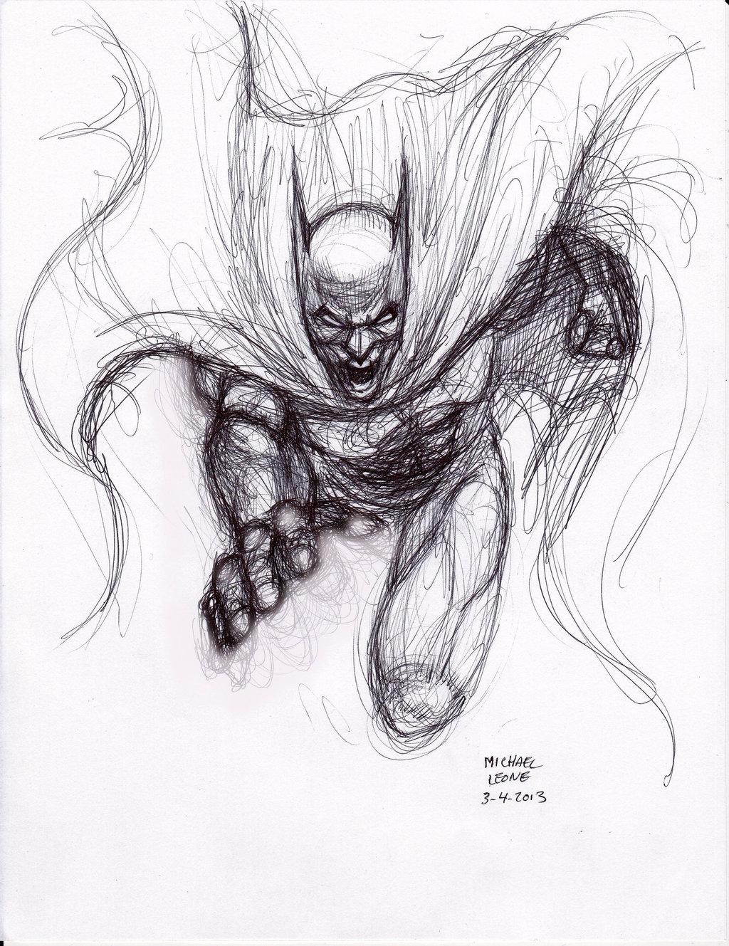 Drawn pen batman #8