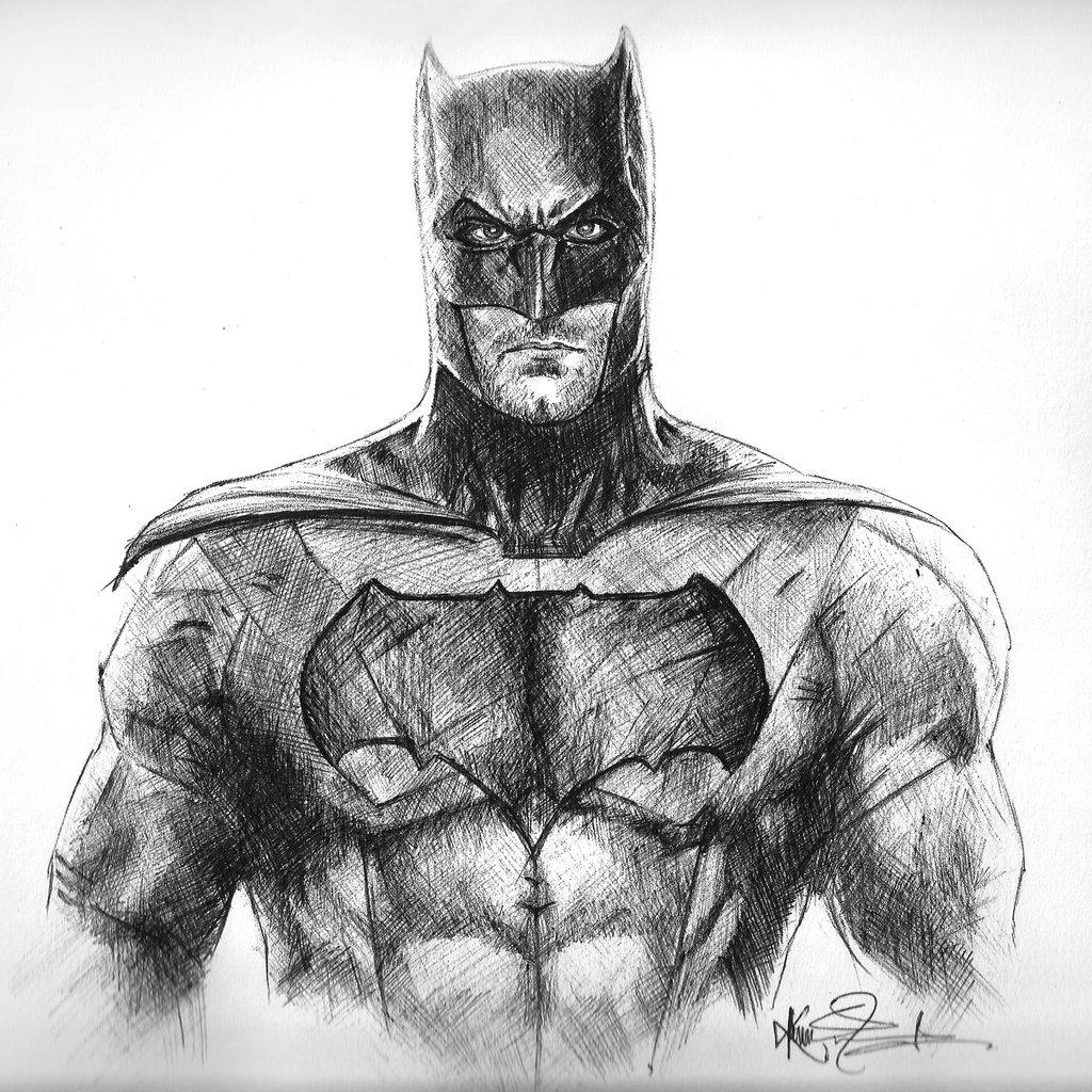 Drawn pen batman Batman Drawing by Affleck Ball