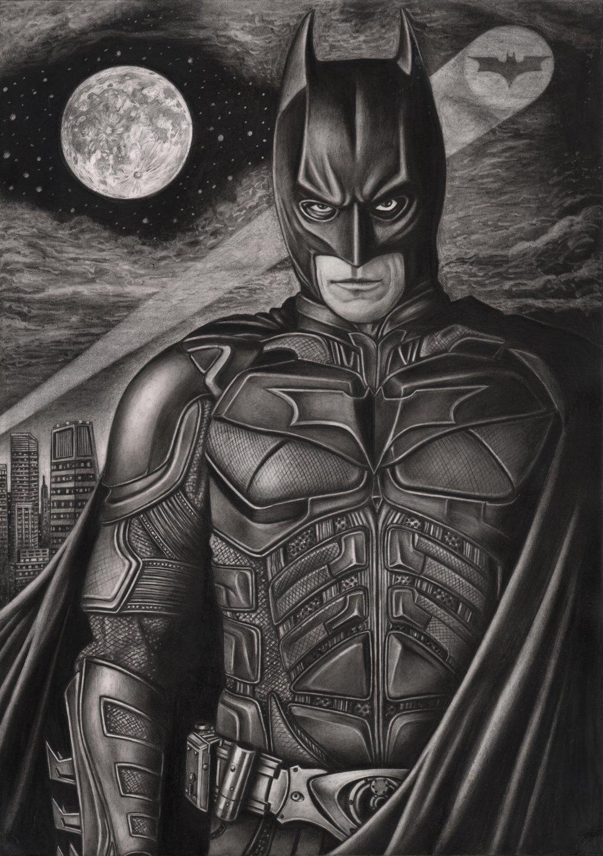 Drawn pen batman Dark Pen by graphite Knight'
