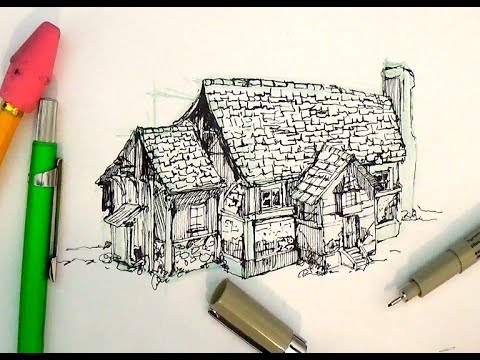 Drawn scenic beginner House draw Tutorials Pen and