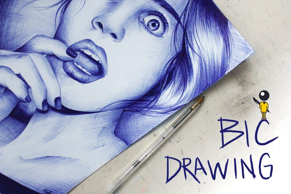 Drawn pen bic pen // drawing pen Bic //