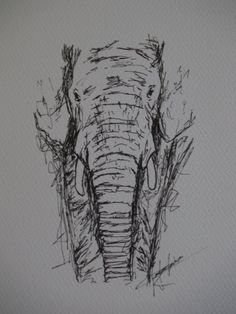 Drawn pen black An of my trees drawing