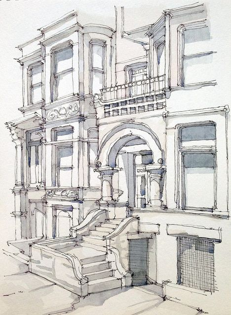 Drawn pen building Best drawing Building Pinterest Anzalone