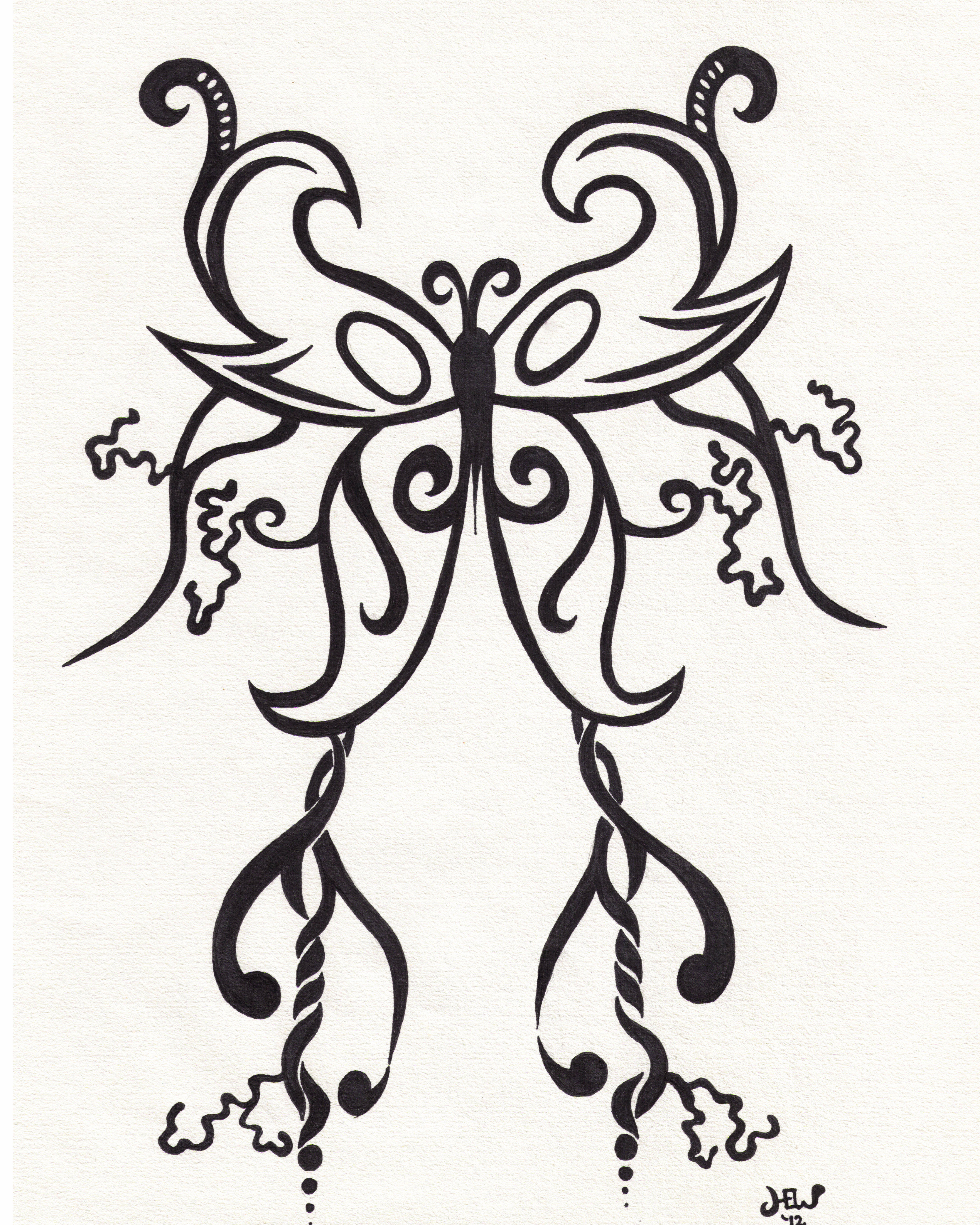 Drawn butterfly pen Drawing 4 Page originalities Butterfly
