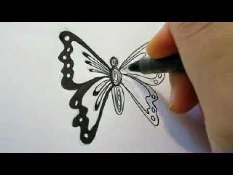 Drawn pen butterfly  Way A How Easy