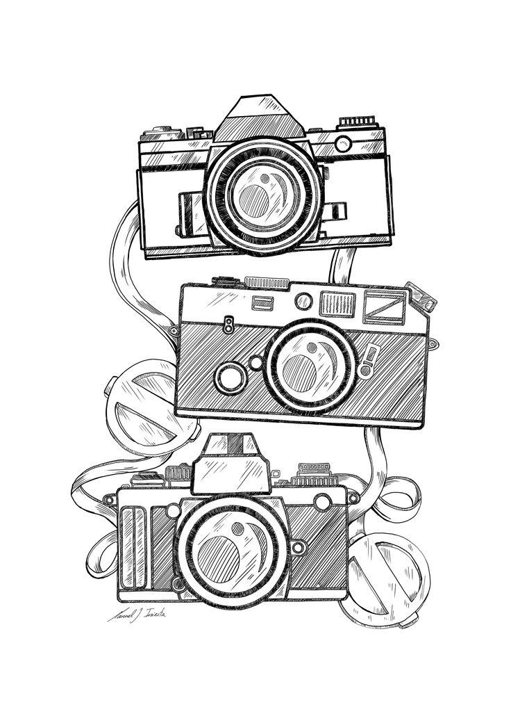 Drawn pen camera Ideas Camera on blogspot Sketch