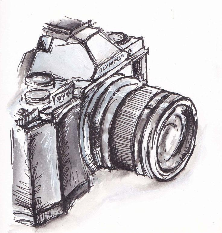 Drawn pen camera Pinterest and Best black Camera