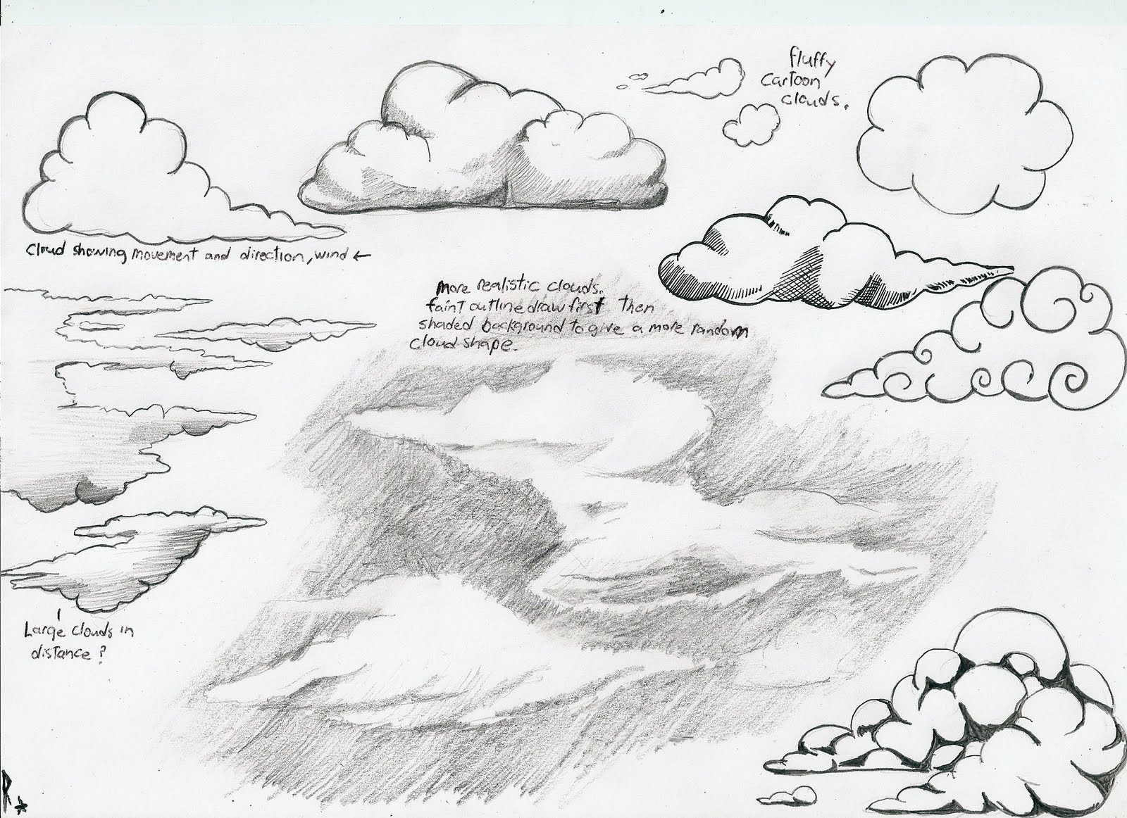 Drawn pen cloud Steps Mountains in Draw 5