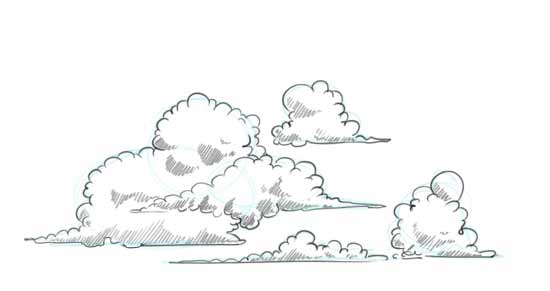 Drawn pen cloud Clouds Step to Clouds Draw