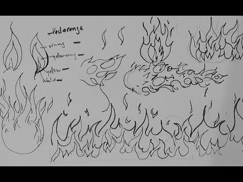 Drawn pen cloud To and flames Tutorials Drawing