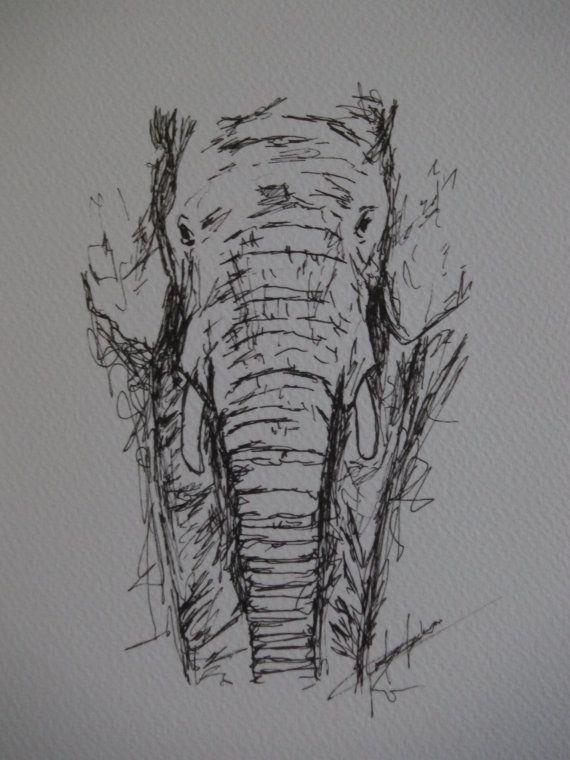 Drawn pen elephant Ideas x drawings Original animal