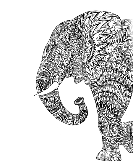 Drawn pen elephant Drawing #hand #hand side view