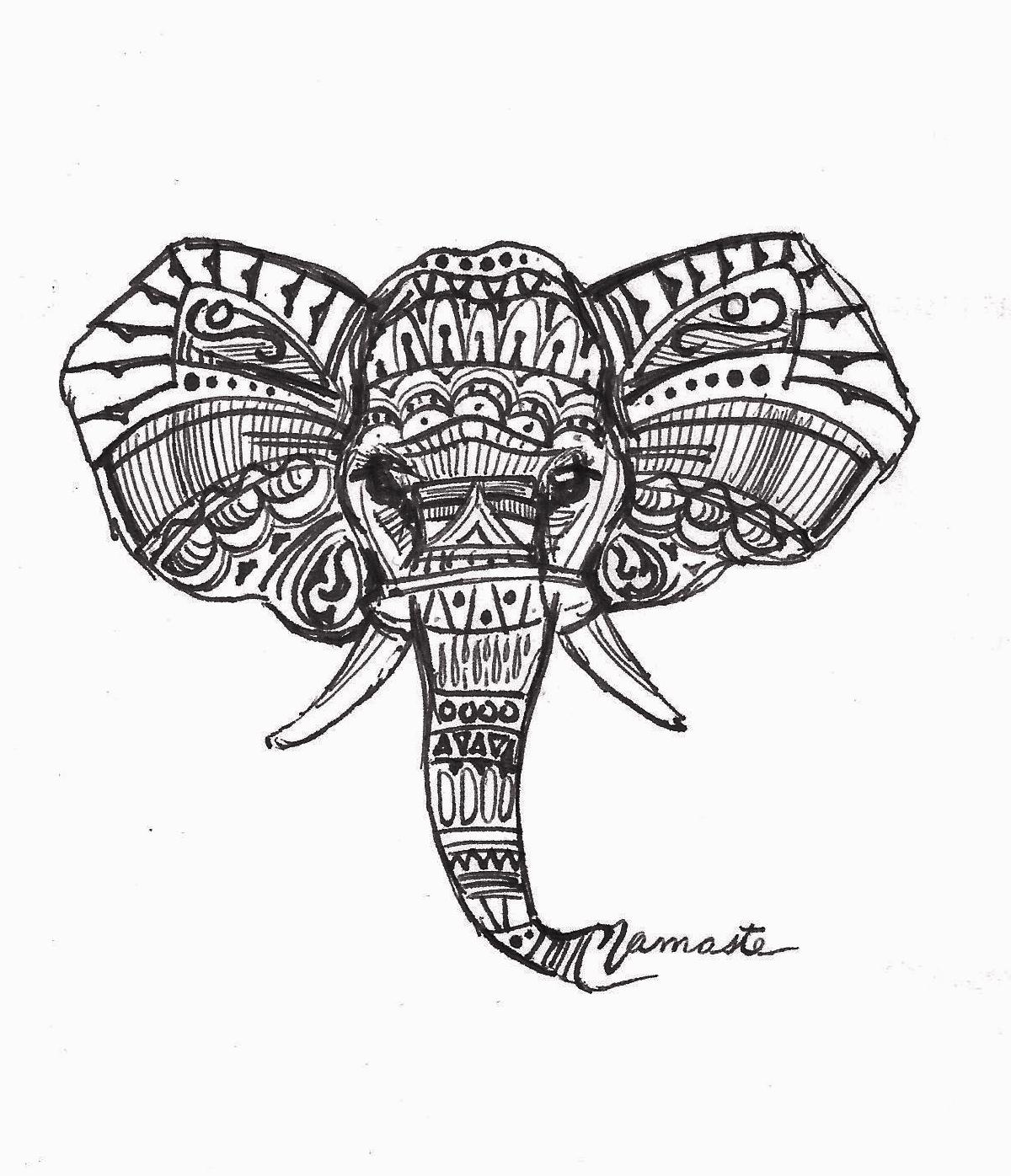 Drawn pen elephant Elephant Art Print Soda Elephant