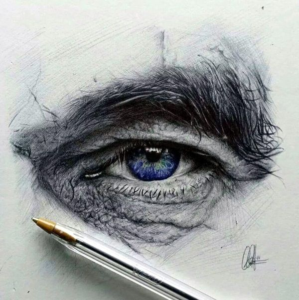 Drawn pen eye EYE Pinterest Examples Best 40