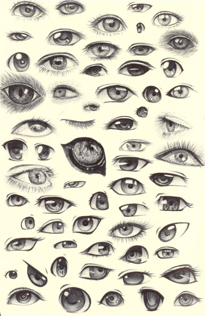 Drawn pen eye Sketch see Eye say so