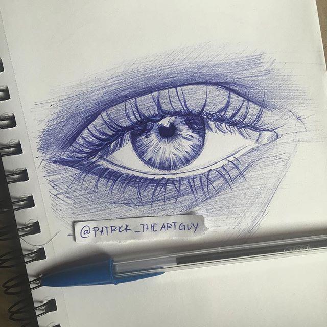 Drawn pen eye Pen time drawing My drawing
