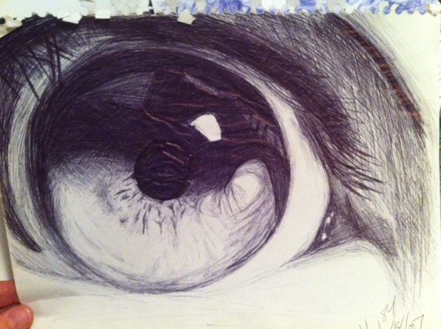 Drawn pen eye You The I Book See