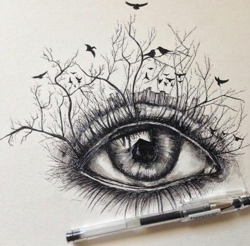 Drawn pen eye In 25+ best a Describe