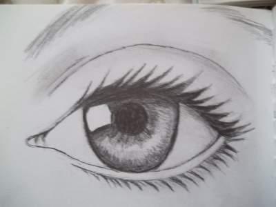 Drawn pen eye & Pen  Pen teens