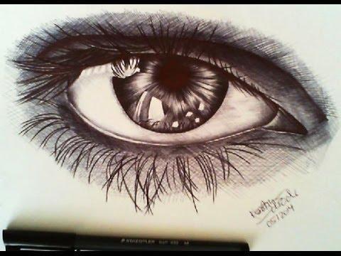 Drawn pen eye Pen pen YouTube Speed Eye