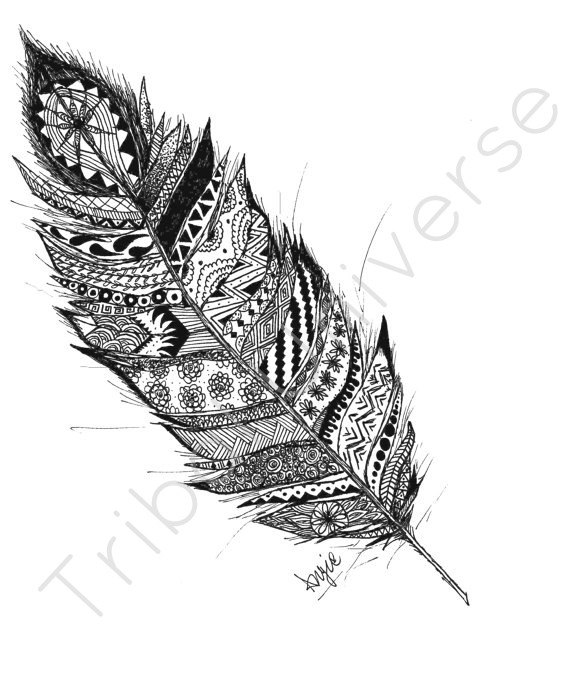 Drawn pen feather Ink and Drawing Drawing Ink