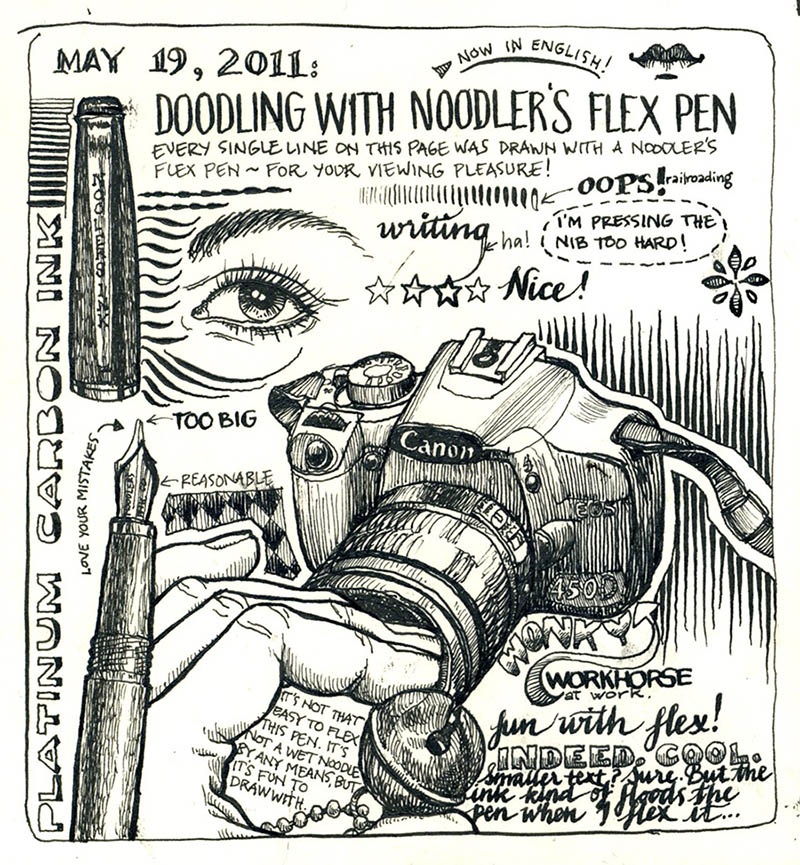 Drawn pen flex Drawing Nina Johansson noodler_doodles1 tools