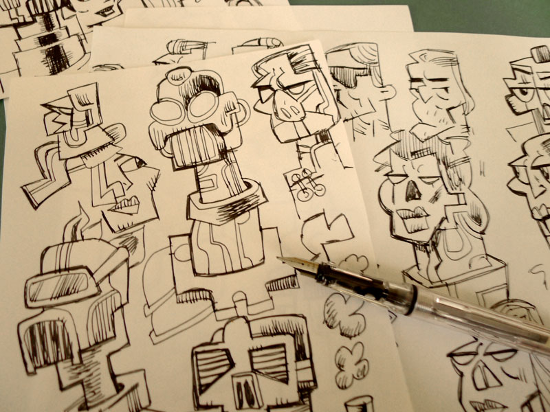 Drawn pen fountain pen Pens with WetCanvas  fountain