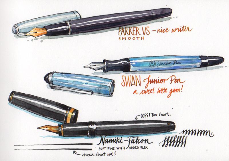 Drawn pen fountain pen FOUNTAIN Fountain  pens PENS