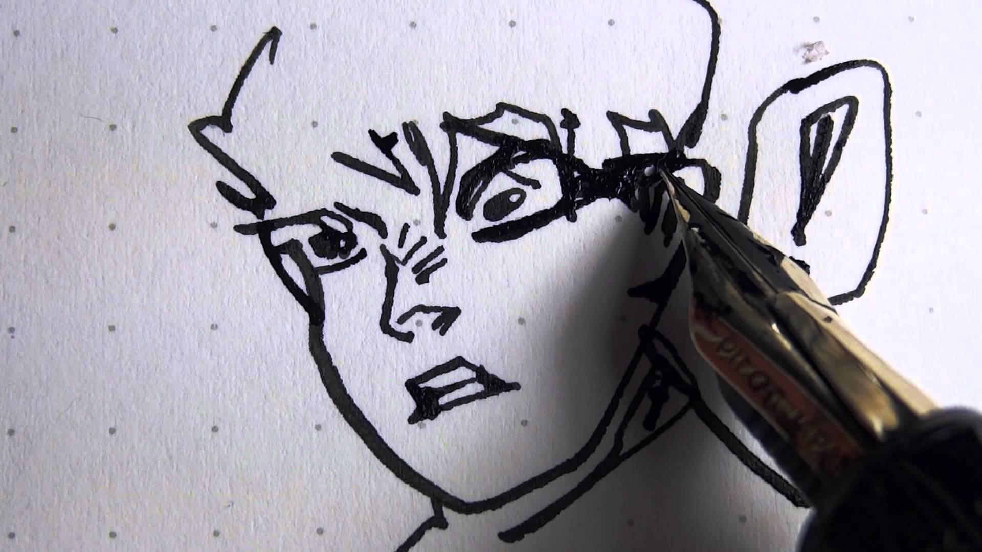 Drawn pen fountain pen 95 Pen Justus 1080p the
