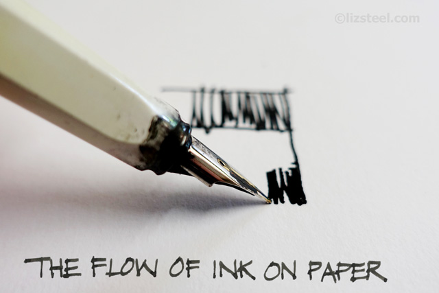 Drawn pen fountain pen : fountain 2: Pen a
