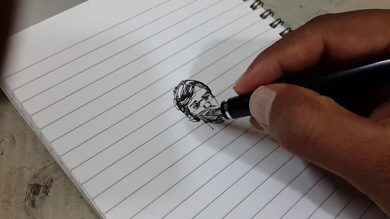 Drawn pen fountain pen Pen drawing drawing YouTube Fountain