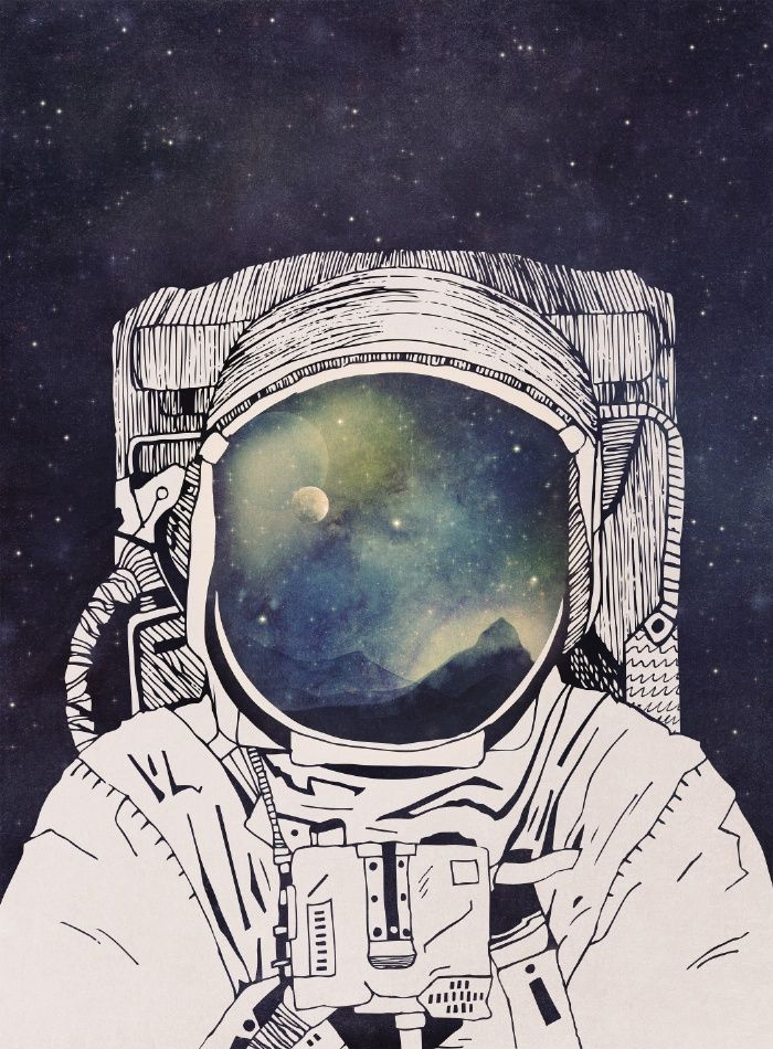 Drawn pen galaxy Sharpie Art on Print 25+