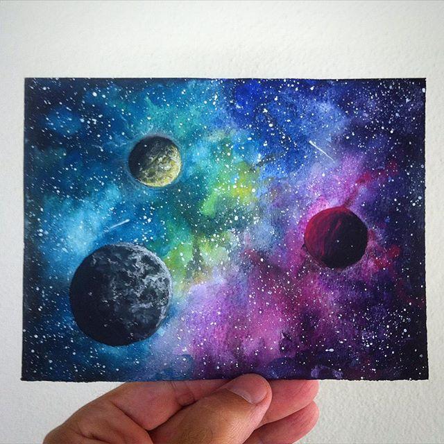Drawn pen galaxy #art on pen space Instagram