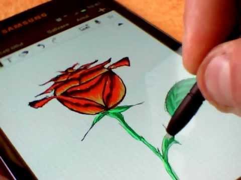 Drawn pen galaxy NOTE) (Samsung S with Galaxy