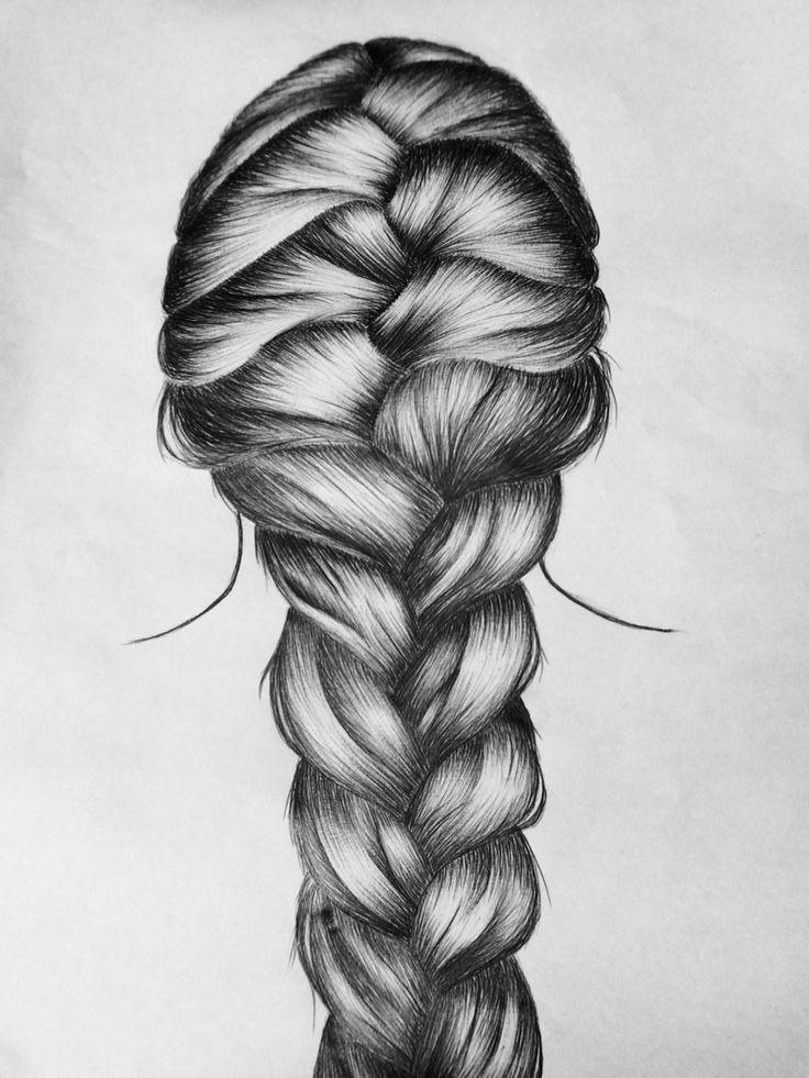 Drawn braid french braid 25+ Best braid hair Pinterest