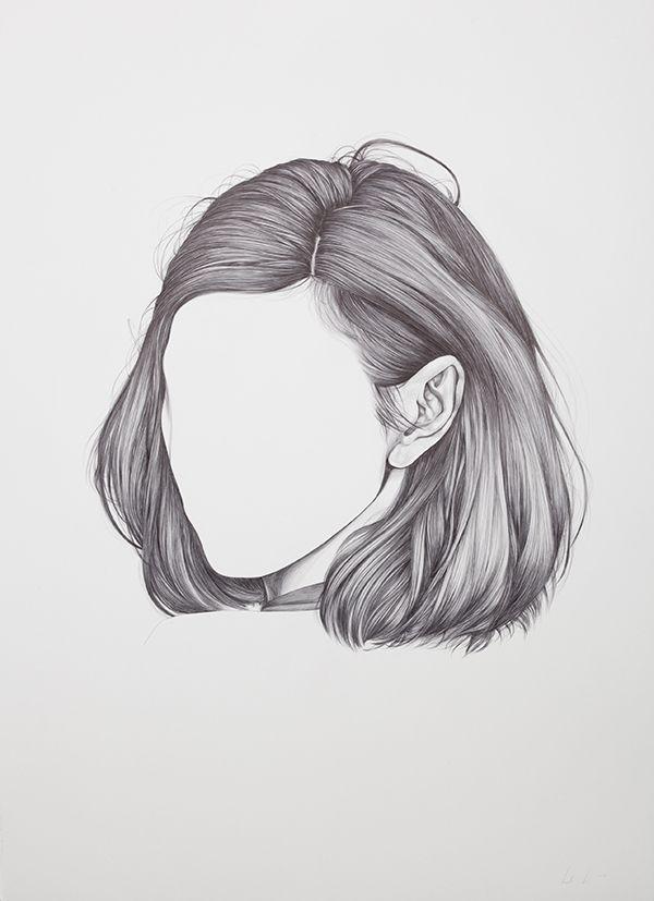 Drawn pen hair Hair Drawing ideas this 25+
