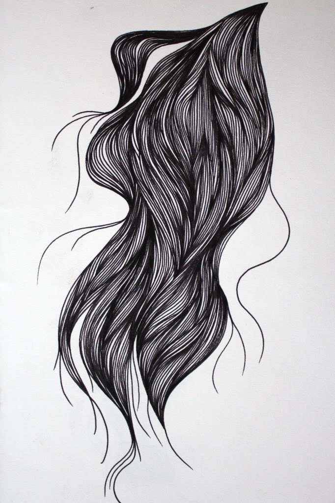 Drawn pen hair Blogspot drawn fineliner drawn I