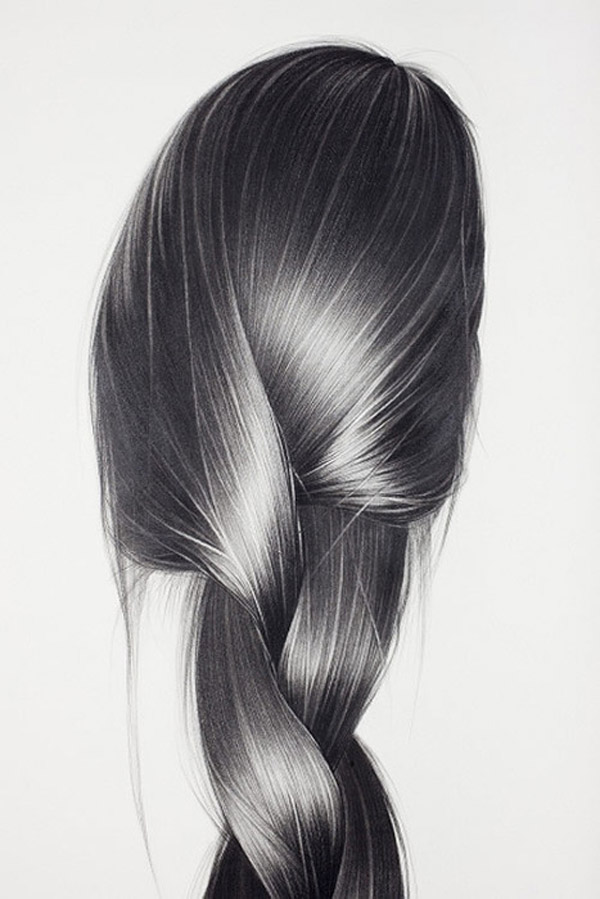 Drawn braid pencil drawing A Pencil Drawings Hair It