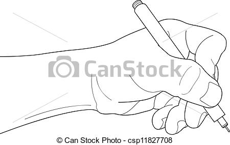 Pen clipart hand holding Pen holding holding Hands csp11827708