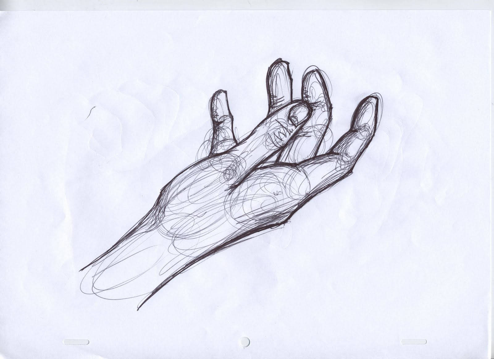 Drawn pen hand drawing Hand Search  reaching drawing