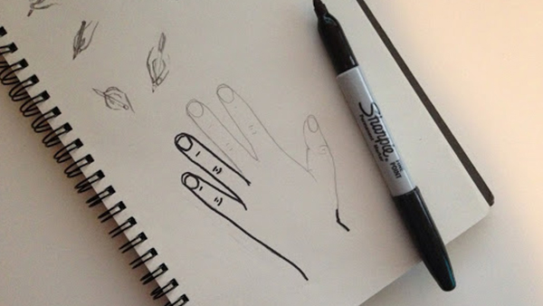 Drawn pen hand drawing Quick Designs: to hand Dirty