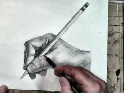 Drawn pen hand holding Draw Hand a to YouTube