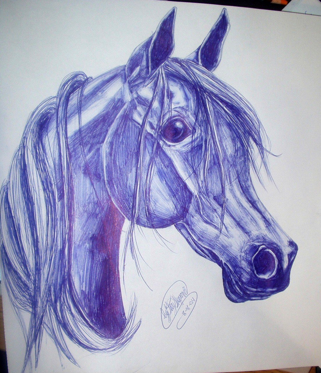 Drawn pen horse On horse smerfette by by
