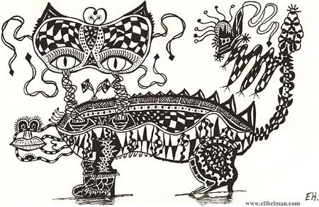 Drawn pen ink pen art Helman: Helman Intricate by by