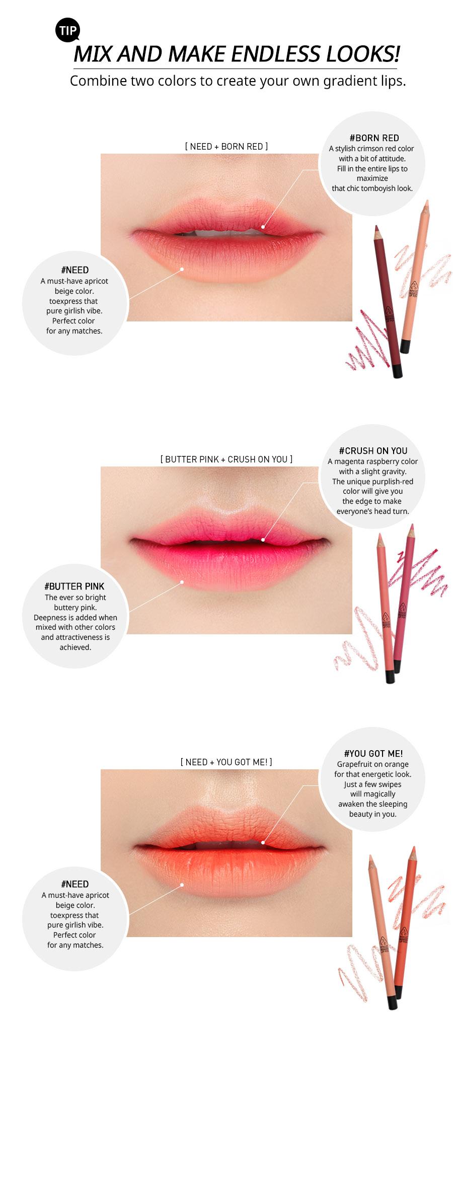 Drawn pen lip STYLENANDA DRAWING 3CE KIT LIP
