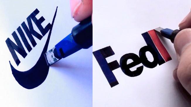 Drawn pen logo png Time Logos lapse With Draw