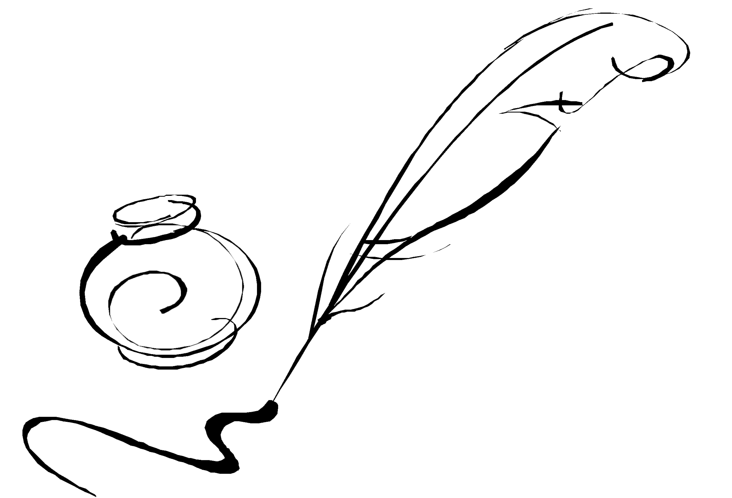 Drawn pen logo png Download Nawsheen Quill free images
