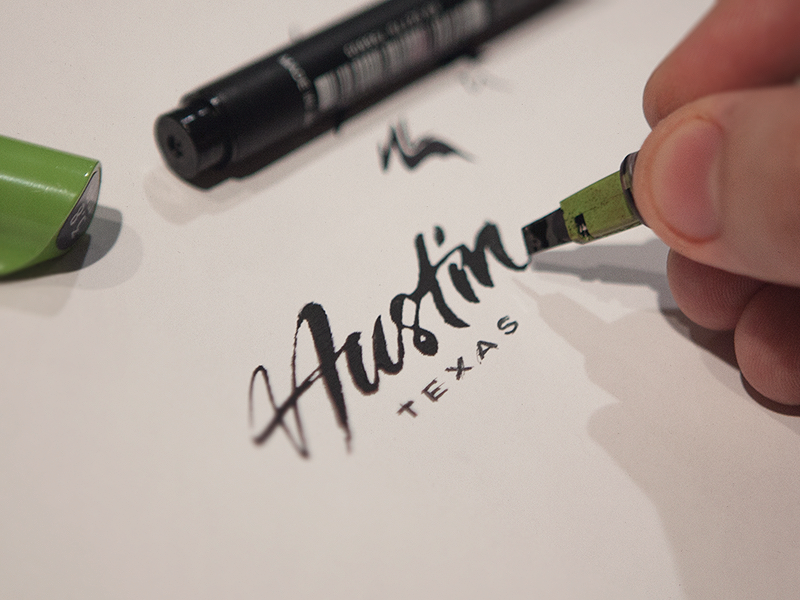 Drawn pen logo png Typography design Lettering Pens and