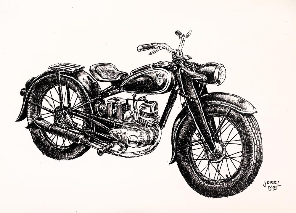 Drawn pen motorcycle Pinterest Jerel Jerel Motorcycle –