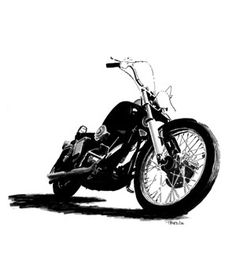 Drawn pen motorcycle Motorcycle motorcycle Harley Google davidson